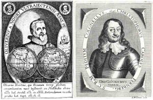 Olivier van Noort (left), the proven fourth circumnavigator and Christoph Carl Fernberger (right), perhaps the first German and first Austrian to sail around the world: Even Fernberger's image looks as if it was modeled on that of van Noort.