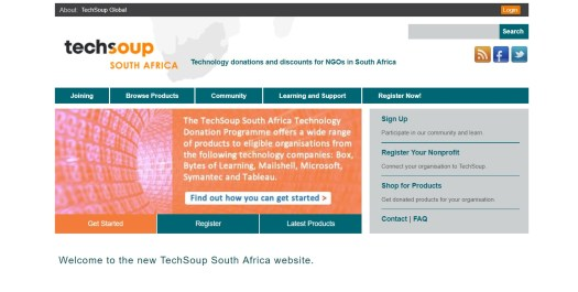 TechSoup South Africa Home Page