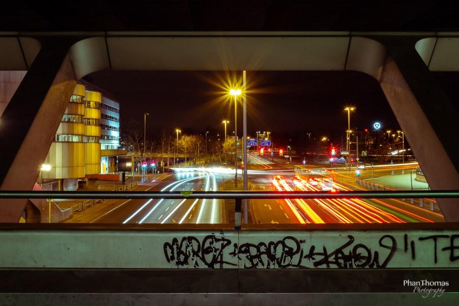 Berliner Funkturm: Lichtspuren