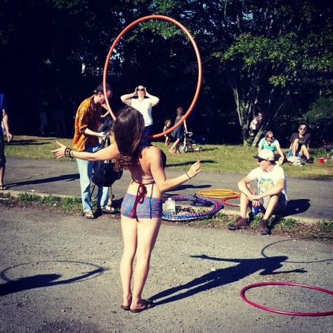 hoop yoga swim show