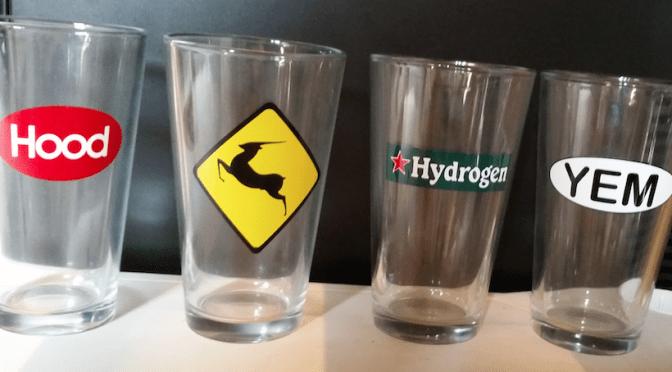Hood, YEM, Hydrogen & Antelope Pint Glasses