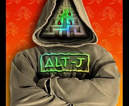 Alt-J Silkscreen Poster by Emek