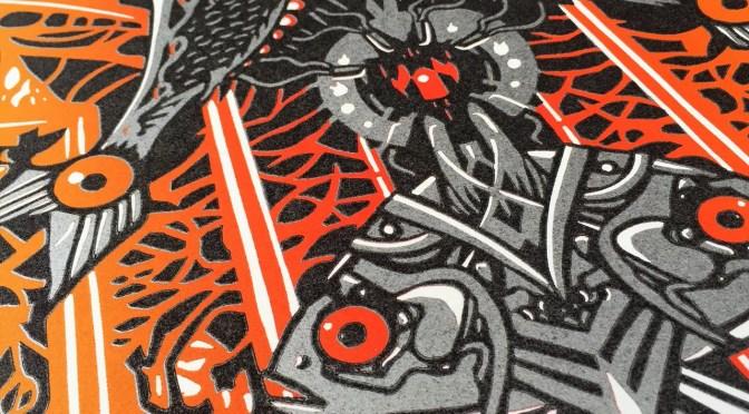 """The Great Machine"" – Isadora Bullock's NYE Linocut Print"