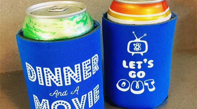 """""""Dinner and a Movie"""" Can Cooler"""