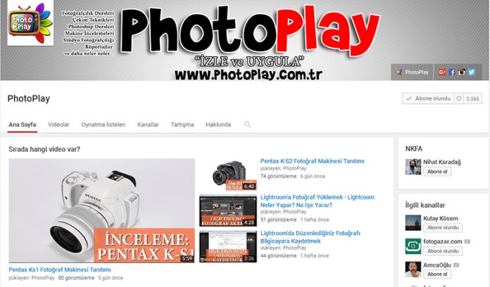 PhotoPlay Fotoğraf Kanalı