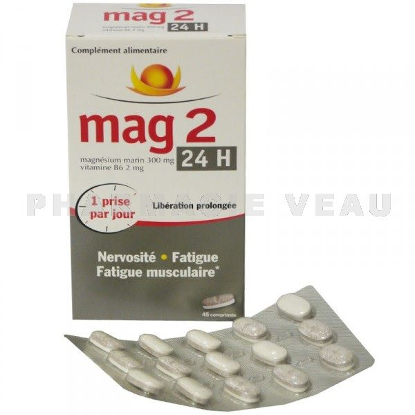 mag 2 24h magnesium 300 mg 45 comprime