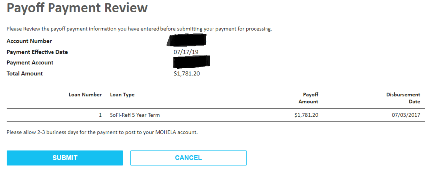 I paid off my student loan