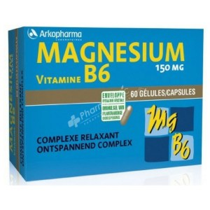Arkopharma Magnesium-Vitamin B6 -60 Capsules-