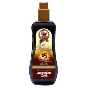 Australian Gold Spray Gel Sunscreen with Instant Bronzer SPF15