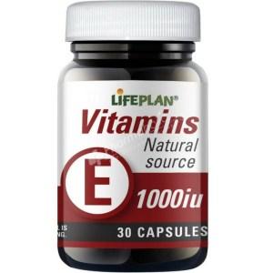 Lifeplan Vitamin E 1000iu