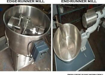 image of edge-runner mill and end-runner mill