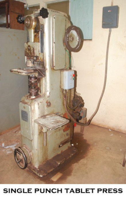 tablet press-image of a single punch tablet press