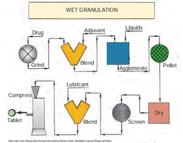 Pembuatan obat granulasi basah