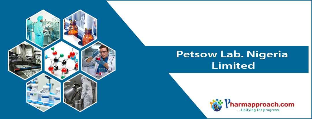 Pharmaceutical companies in Nigeria:Petsow Lab. Nigeria Limited