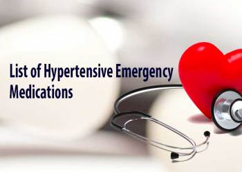Drugs used in the treatment of hypertensive emergencies
