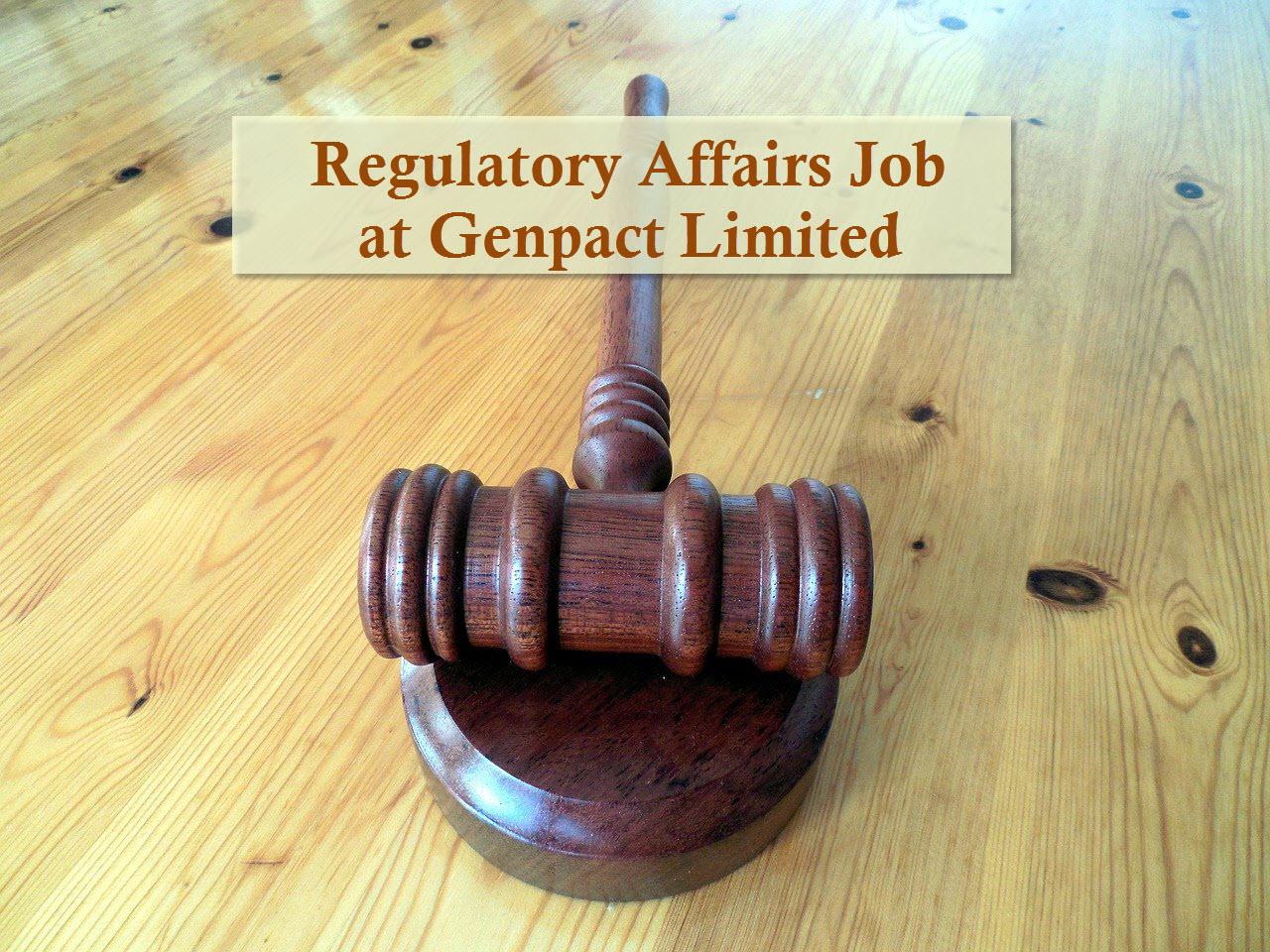 Genpact Limited Vacancy MPharm MSc BPharm in Regulatory Affairs