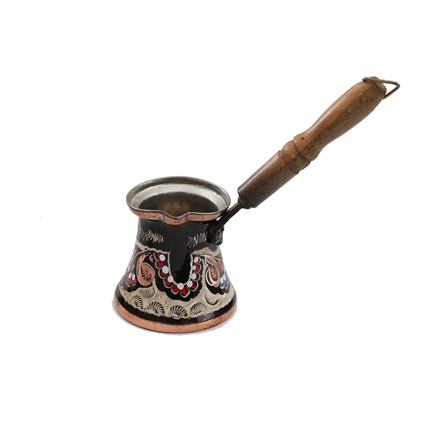 Handmade & Painted Copper Turkish Coffee Set (with Pot ...