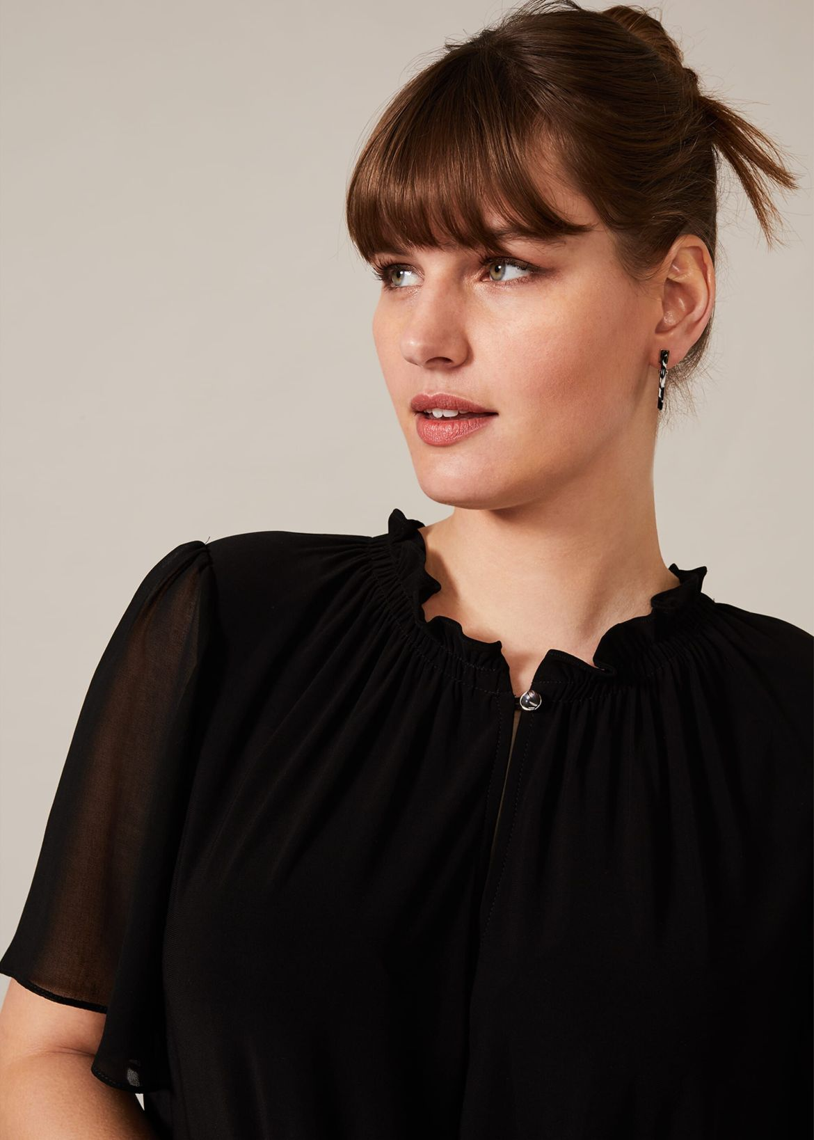 Erin Sheer Sleeve Top