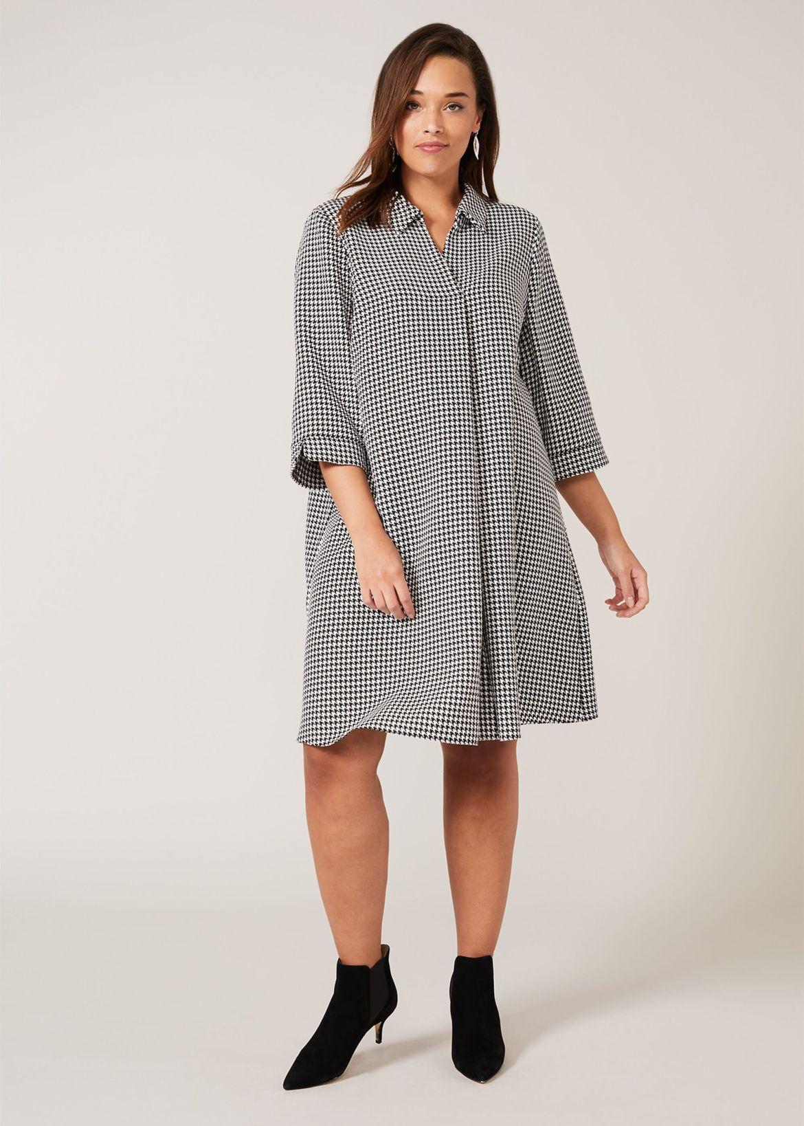 Joanne Dogtooth Swing Dress