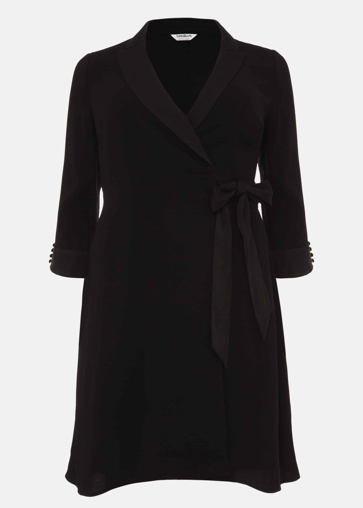 Iris Tuxedo Wrap Dress
