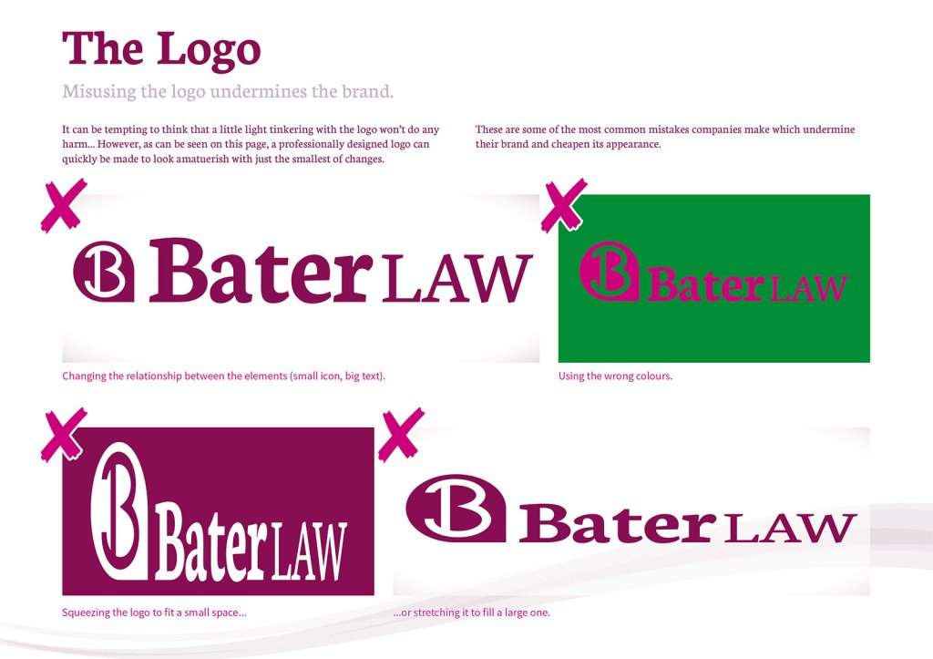 How not to use a logo, Bater Law.