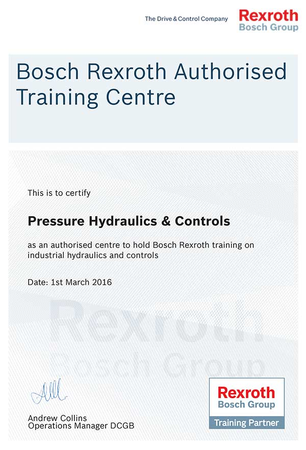 Official Training Certificate