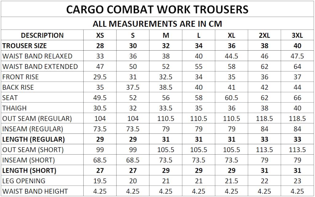 Medical Cargo Measurement Chart