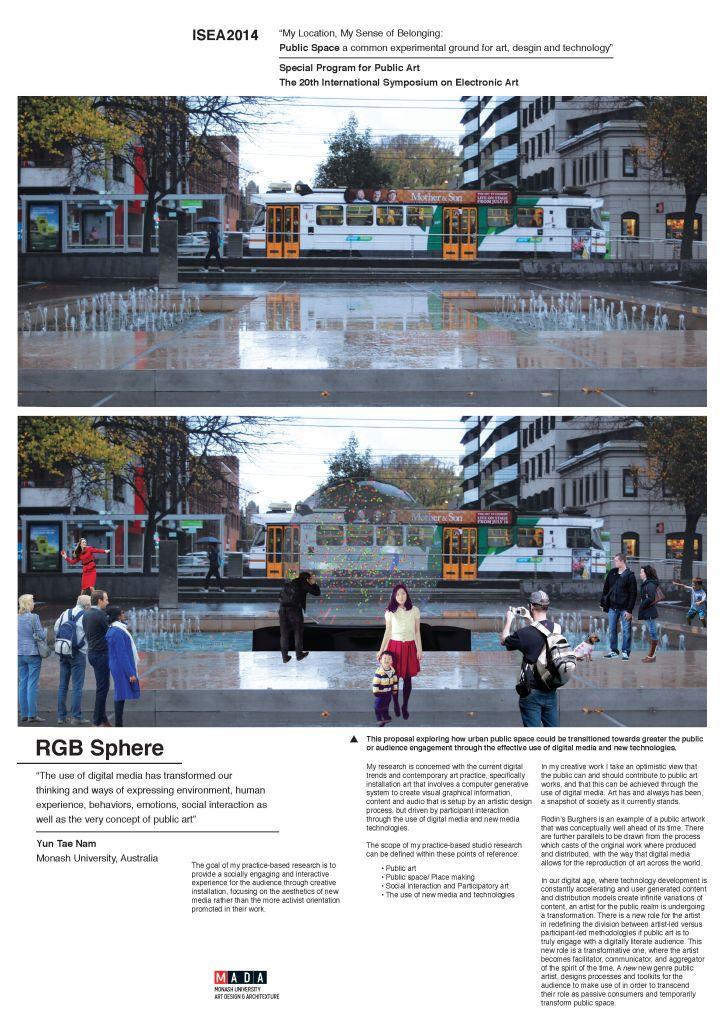 RGB Sphere Poster ISEA2014