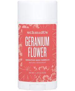 Schmidt's natural deodorant in geranium flower