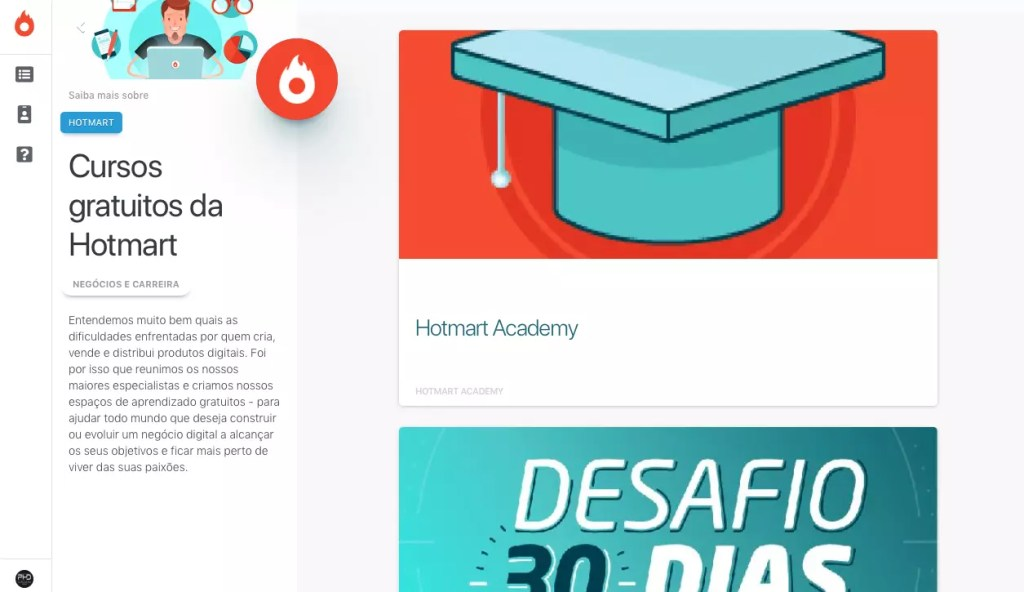 Cursos de Marketing Digita Gratuitos da Hotmart