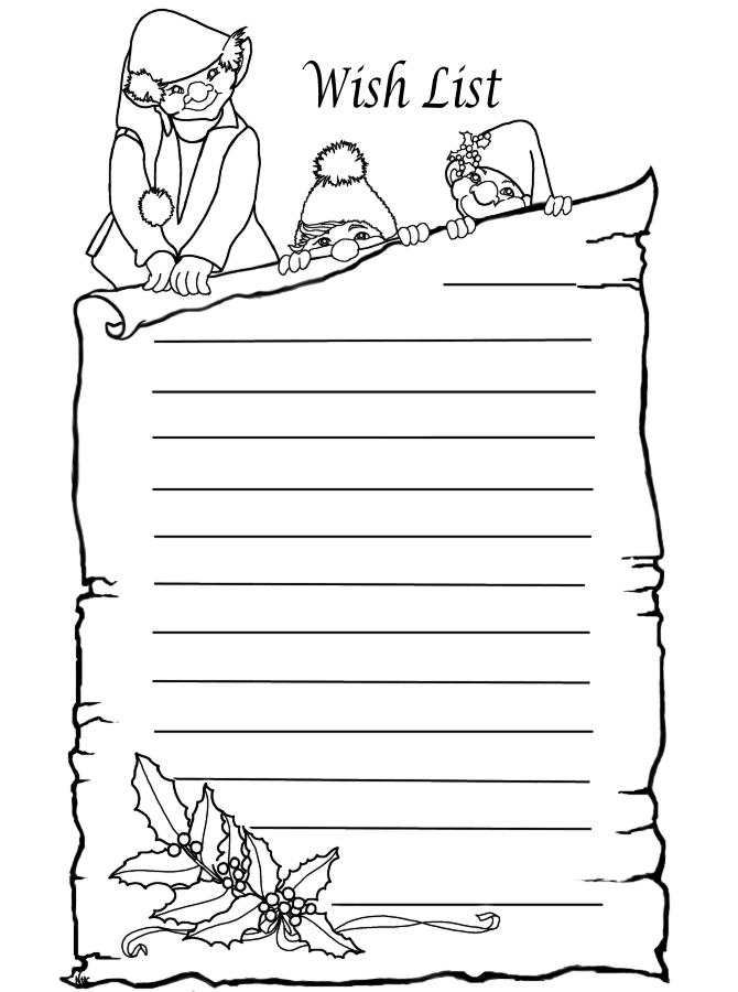 Christmas Wish List Coloring Pages Search Results