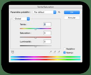 teinte saturation logiciel retouche photo