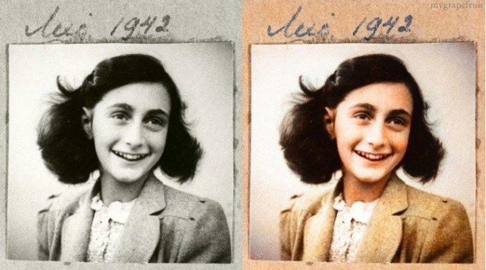 Top 25 photos anciennes historiques colorisées Anne Frank