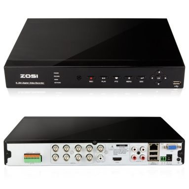 ZOSI 8CH 960H Standalone H.264 Recording Network CCTV Security Surveillance DVR Video Recorder System