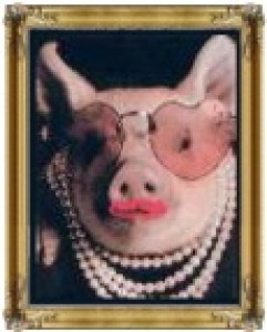 Miss Piggy in Pearls