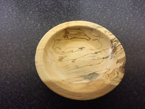 Not sure that you can see the blues in this photo, but they are there, honest! Wood turning just reveals the beauty that is already in the wood.