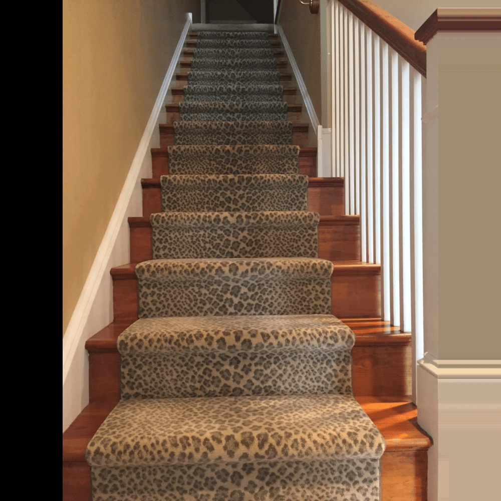 Stair Runners Custom Area Rugs | Leopard Carpet On Stairs | Diamond Pattern | Fawn | Stark | Carpeted | Striped