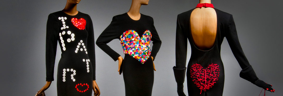 Embellished dresses from Patrick Kelly's Fall 1986 and Fall 1988 collections