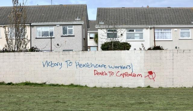 Covid 19 graffiti Dublin
