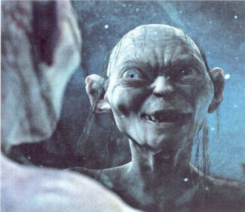 Gollum said crazy things to himself often.