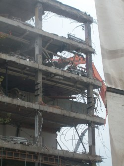 Taken October 11 2012. BBC Manchester Oxford Road Demolition
