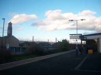 Platform 1 at Rochdale Train station