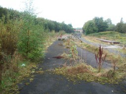 Taken October 5th 2009. View of rail track from Oldham Mumps station.