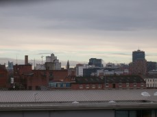 Aerial view towards Manchester City Centre from Ardwick