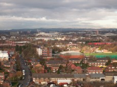 Aerial view from Longsight towards Gorton