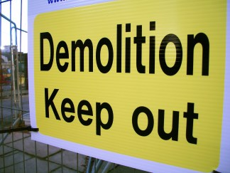 Demolition Sign, Former BBC Manchester Oxford Road site