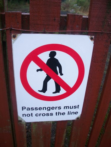 Passengers Must Not Cross the line