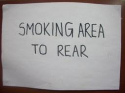 Smoking Area to Rear