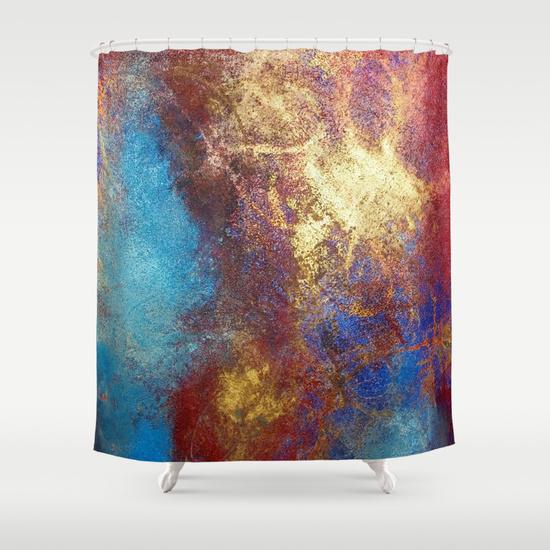 gold shower curtain philip bowman