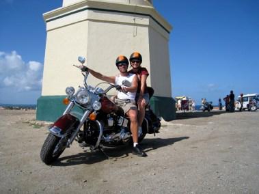 Riding the bike in Aruba